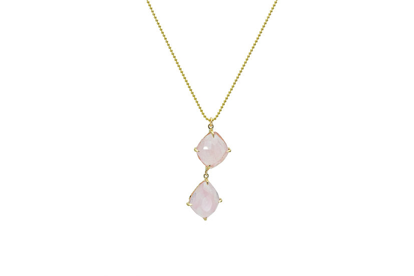 Morganite + 14k Yellow Gold