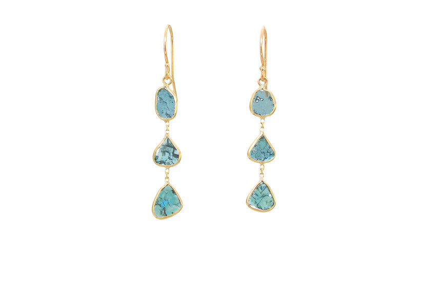 Blue Diamond Trio Earring
