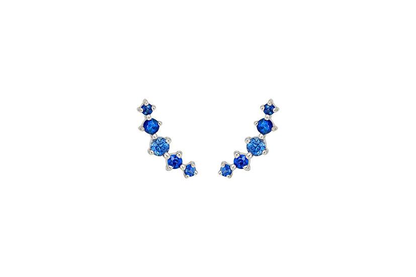 Blue Sapphire + 14k White Gold