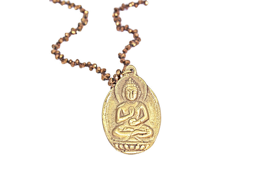 Buddha and Bronze Woven Chain