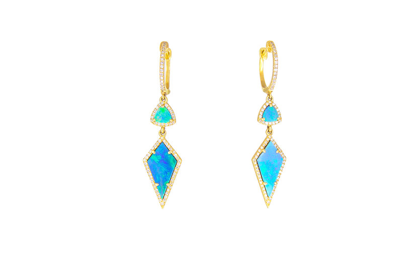 Opal, Diamond + 14k Gold