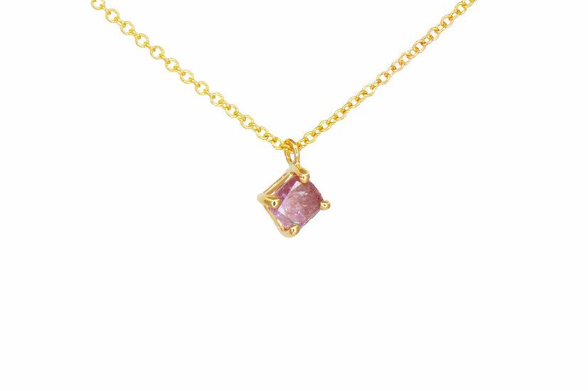 Pink Diamond + 14k Gold