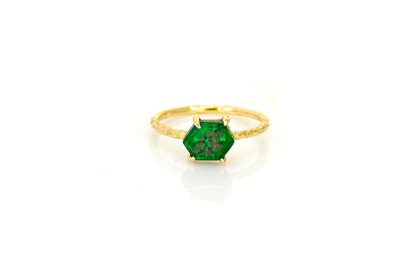 Emerald + 14k Yellow Gold Ring