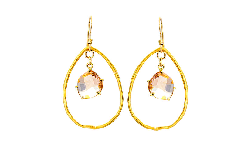 Peach Stone Earrings