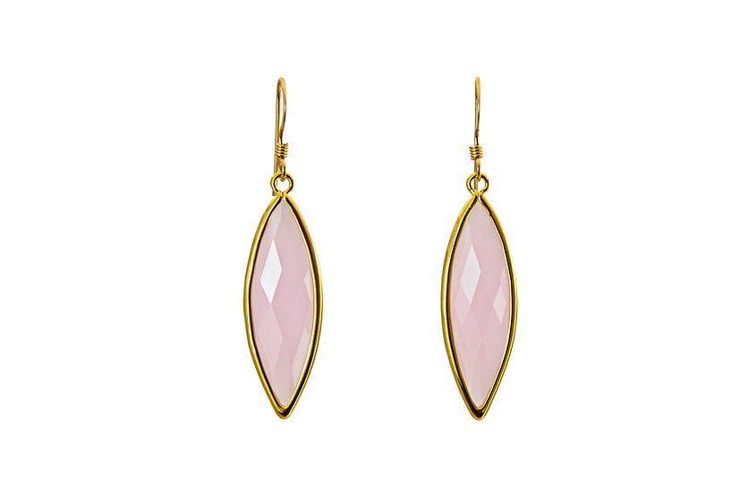 Long Color Therapy Gold | Rose Quartz