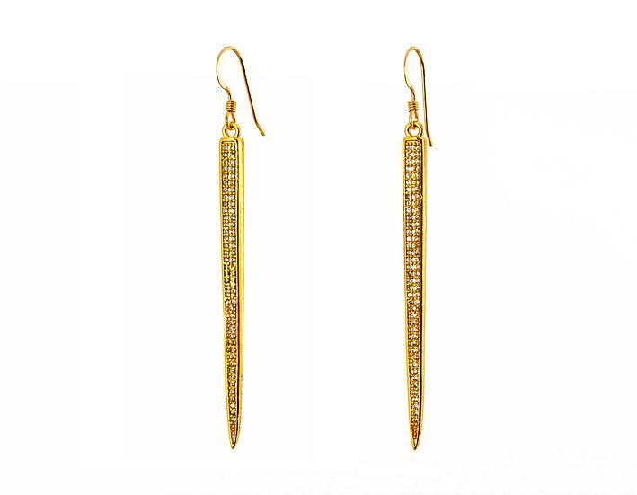 CZ-Spike Earrings