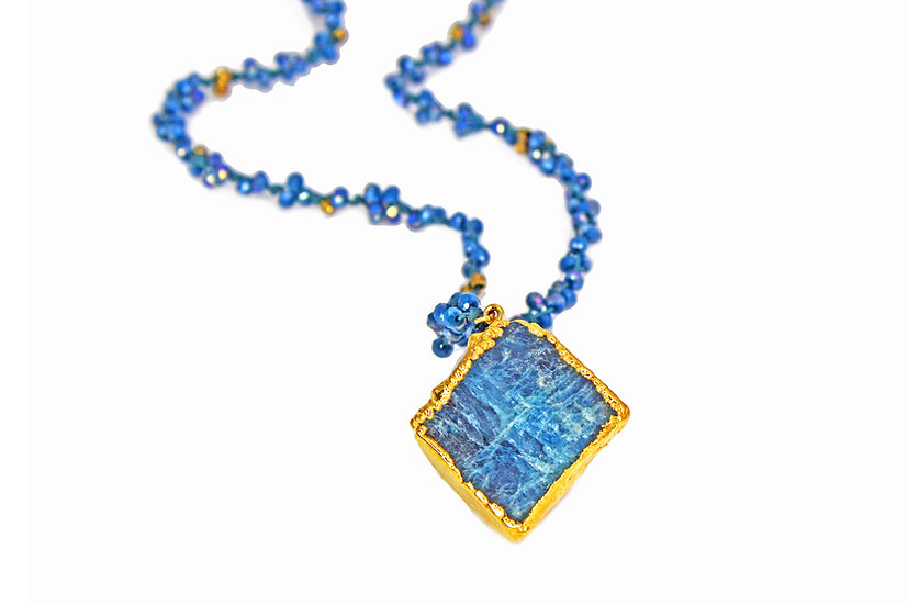 Gold Brushed - Blue Sapphire