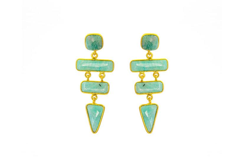 Amazonite Tier Earrings