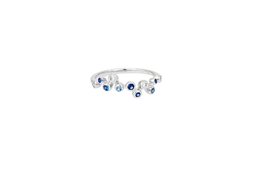 Diamond + Sapphire Ring