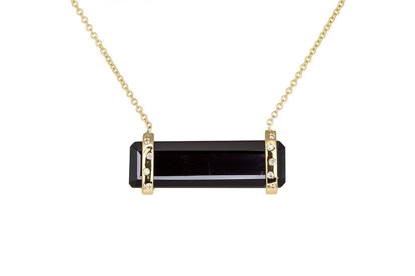 Sapphire, Diamond + 14k Yellow Gold