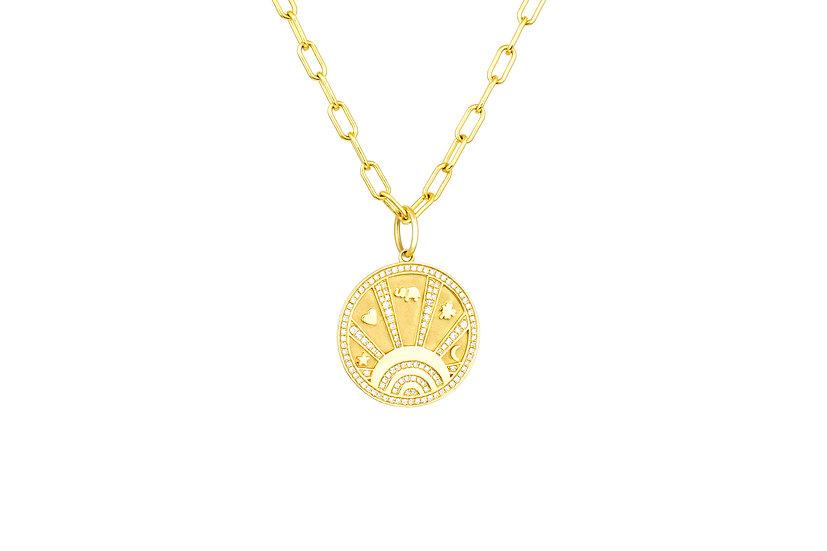 Diamond + 14k Yellow Gold Lucky Charm