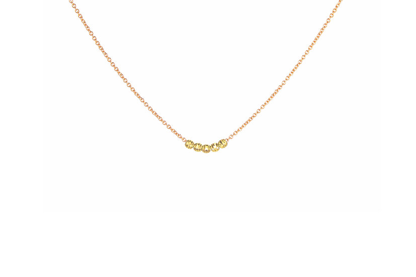 14k Mooncut Yellow Gold + 14k Rose Gold
