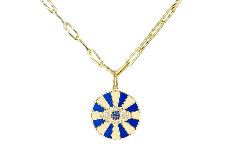 Diamond, Sapphire + 14k Yellow Gold