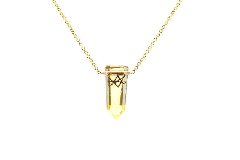 Gemstone + 14k Gold Reiki Necklace