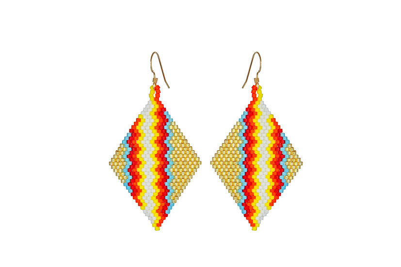 Neon Beaded Earrings