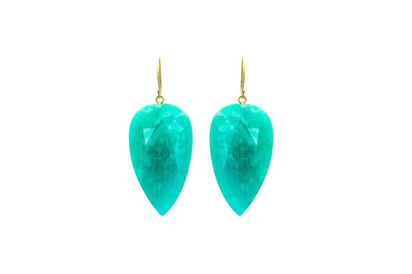 Amazonite + 14k Yellow Gold