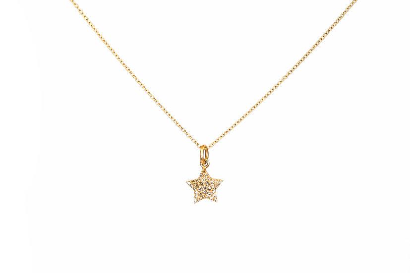 Diamond Star + 14k Gold