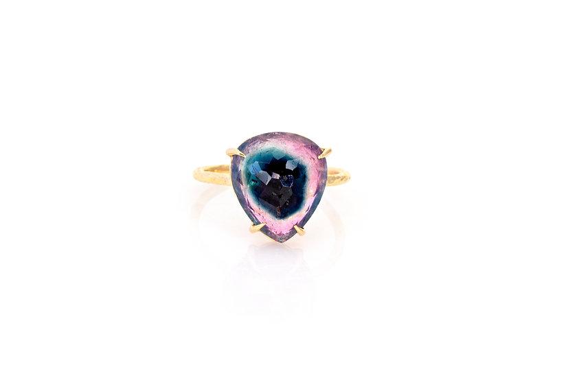 Gemstone + 14k Yellow Gold Ring