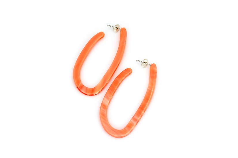 Colorful Acrylic Hoops