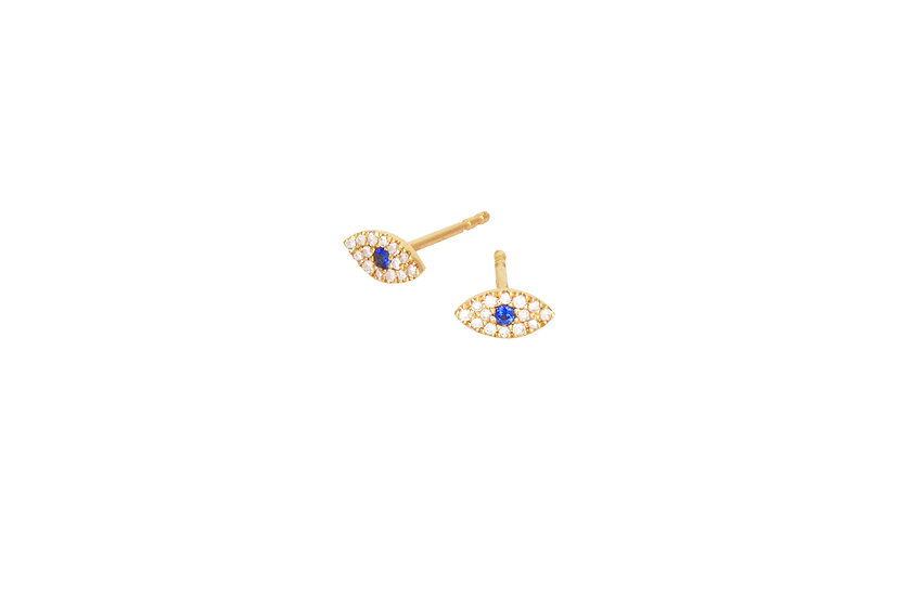 Sapphire + Diamond Evil Eye Studs