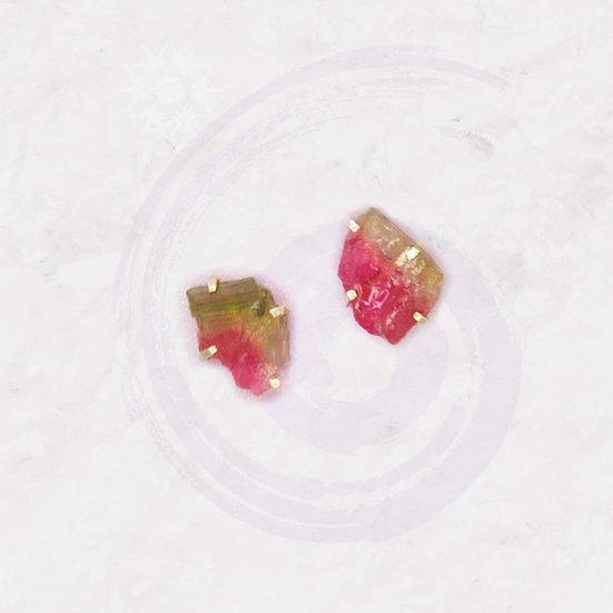 Watermelon Tourmaline + Sterling Silver