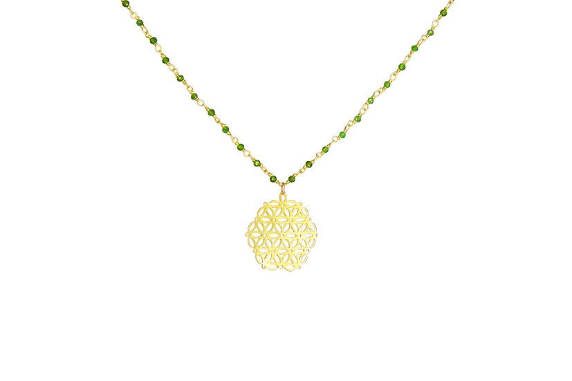 Flower of Life + Peridot