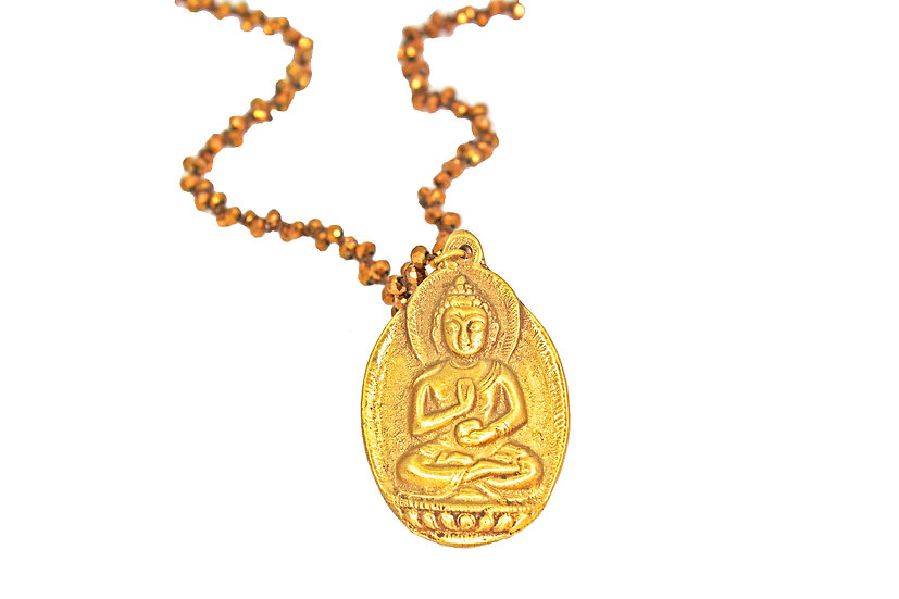 Buddha and Bronze Woven Chain
