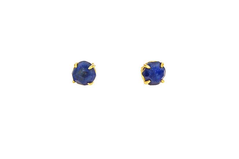 Sapphire + Gold Stud
