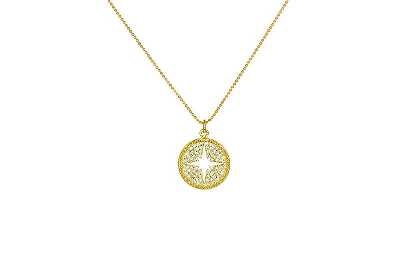 CZ Compass Necklace