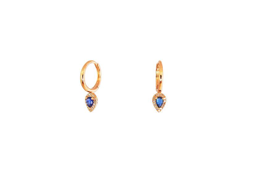 Diamond + Princess Cut Sapphire