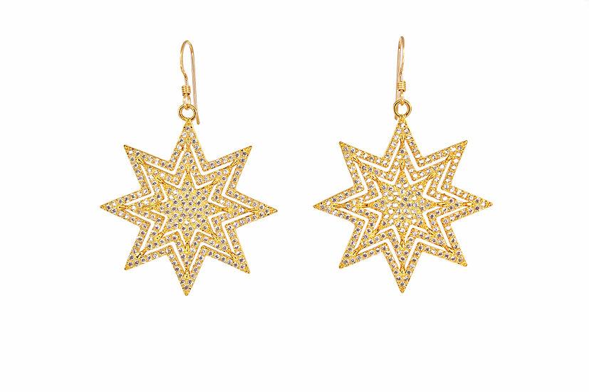 Large Starburst Earrings