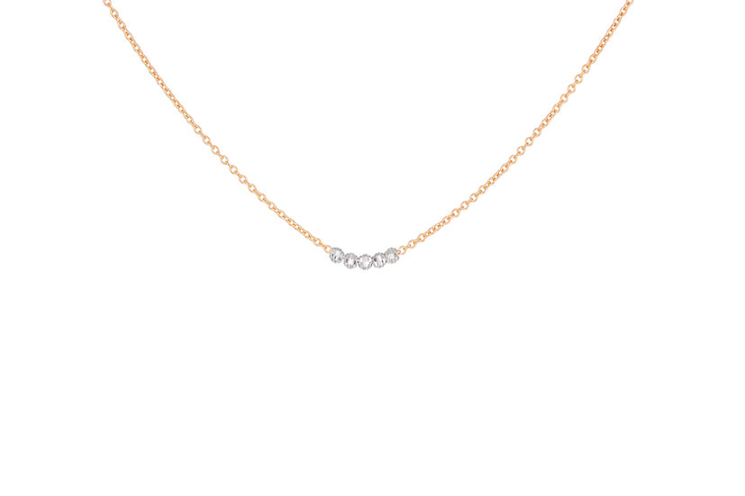 14k Mooncut White Gold