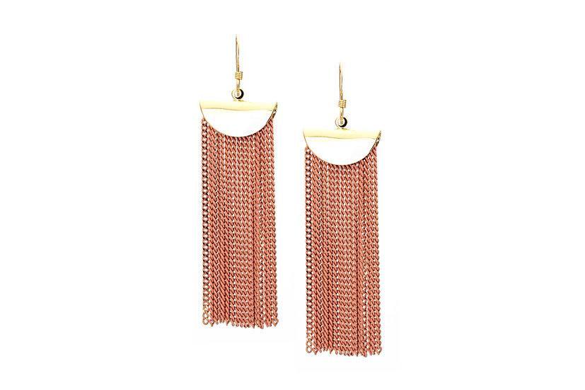 Chain Cascade Earrings - Desert Rose