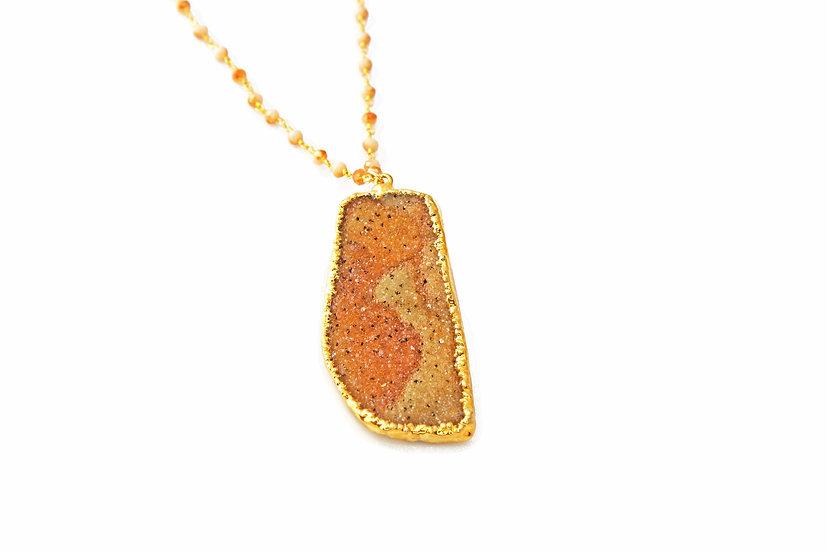 Natural Druzy - Sand Gold