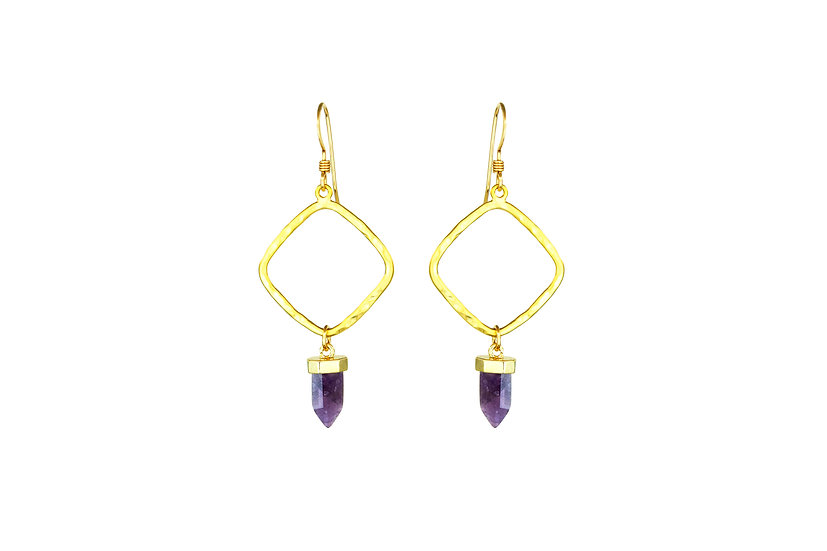 Gold Diamond + Amethyst