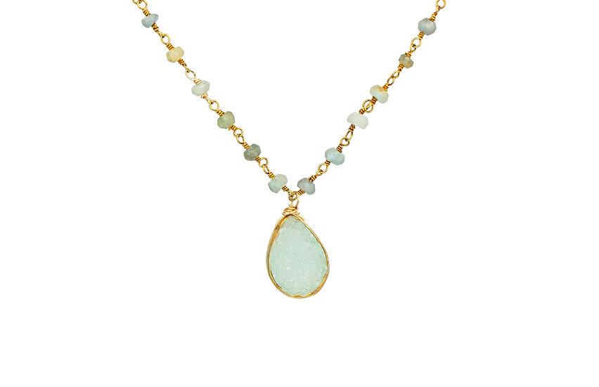 Druzy + Opal Necklace