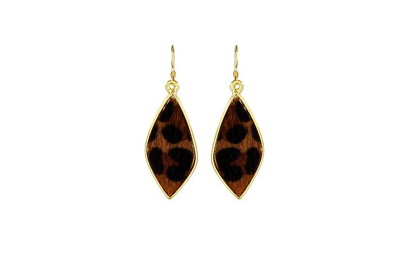 Found Leopard Earrings