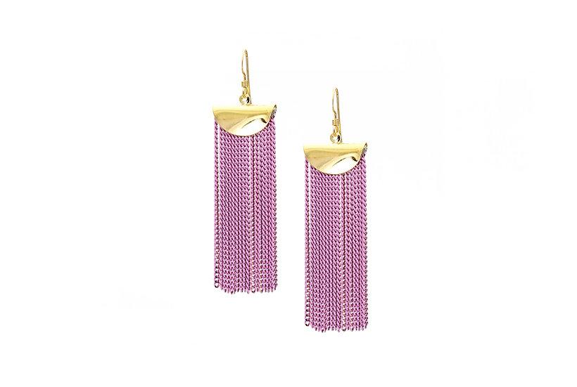 Lilac Chain Cascade Earrings