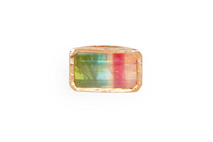 Multi-Color Tourmaline + Rose Gold