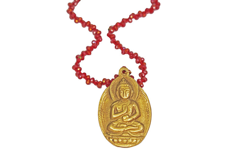 Buddha and Red Crystal