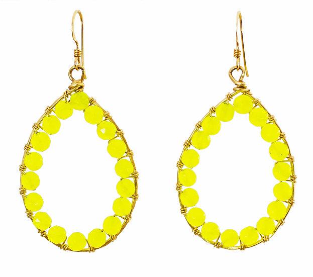 Bright Yellow Teardrop
