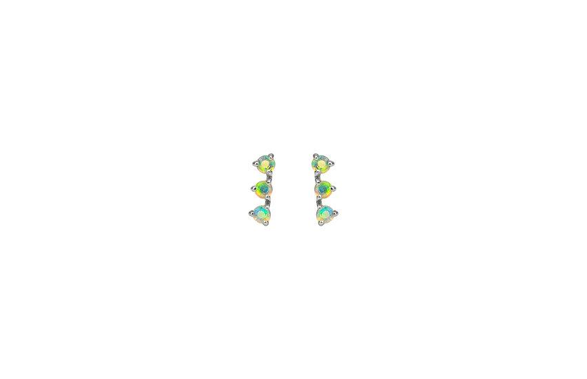 Opal + 14k White Gold