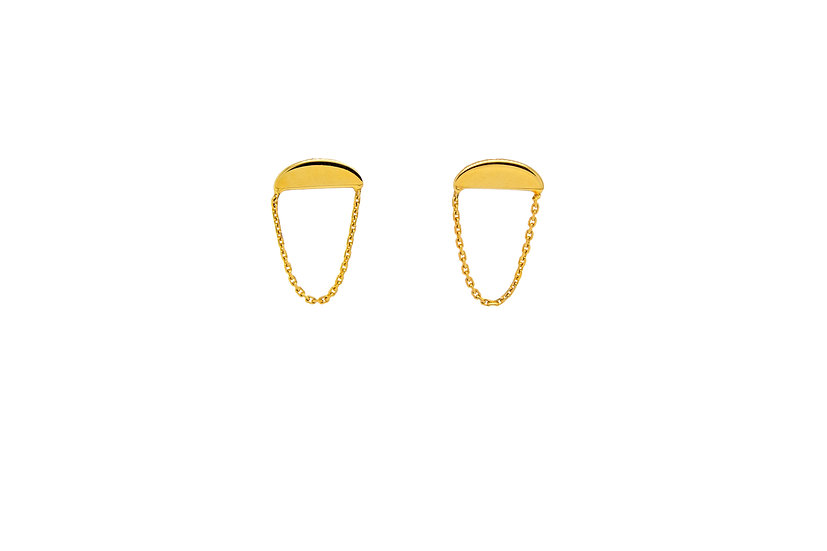 14k Yellow Gold Half Moon