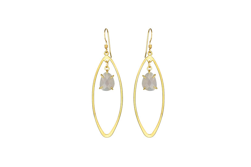 Gray Moonstone Earrings