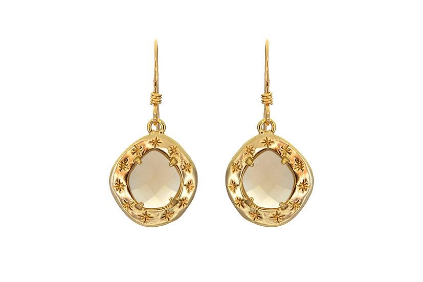 Starry Gray Moonstone Earrings