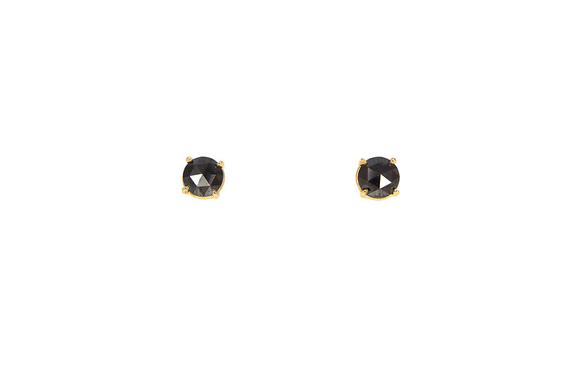Black Diamond 14k Gold Studs