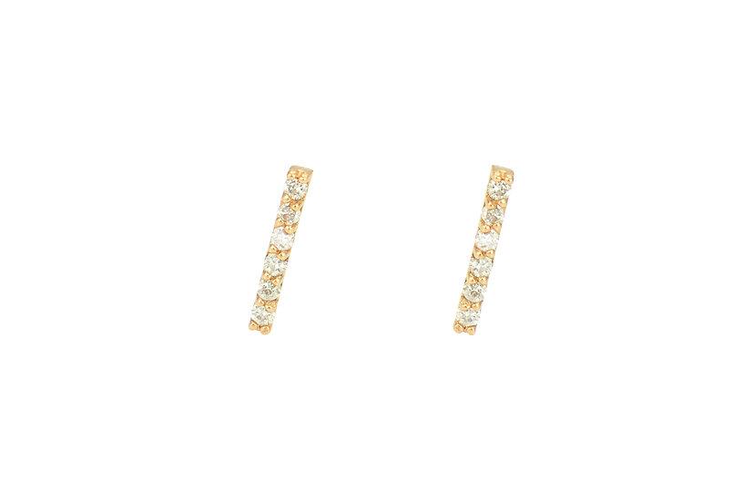 Diamond Studs with 14KRose Gold