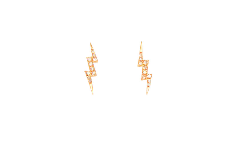 Diamond + 14k Rose Gold Studs