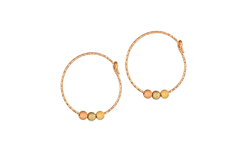 Small Moondust Hoops