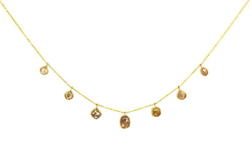 Rose Cut Chocolate Diamond Chandelier Necklace